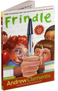 Frindle Book Cover by Andrew Clements